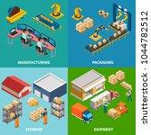 industrial machines isometric... | Shutterstock .eps vector #1044782512