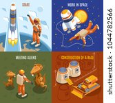 space exploration isometric...   Shutterstock .eps vector #1044782566