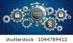 german text dsgvo  translate...   Shutterstock .eps vector #1044789412