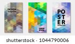 trendy colorful mosaic template ... | Shutterstock .eps vector #1044790006