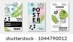 trendy tropic pattern covers... | Shutterstock .eps vector #1044790012