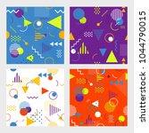 trendy seamless memphis style...   Shutterstock .eps vector #1044790015