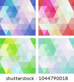 colorful seamless mosaic...   Shutterstock .eps vector #1044790018