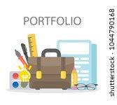 portfolio of designer.... | Shutterstock . vector #1044790168