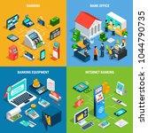 banking isometric design... | Shutterstock .eps vector #1044790735