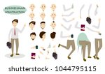 businessman character set. man... | Shutterstock . vector #1044795115