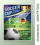 soccer football poster... | Shutterstock .eps vector #1044797242