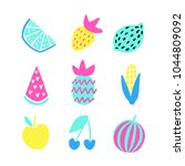 summer vector elements... | Shutterstock .eps vector #1044809092