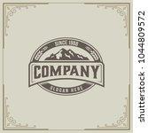 mountain design element in... | Shutterstock .eps vector #1044809572