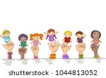 illustration of kids hands... | Shutterstock .eps vector #1044813052