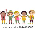illustration of stickman kids... | Shutterstock .eps vector #1044813088