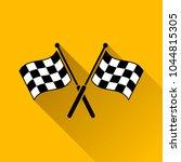 illustration of checkered flags ... | Shutterstock .eps vector #1044815305