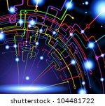 abstract vector background.... | Shutterstock .eps vector #104481722