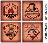 vintage magic show brochures...   Shutterstock .eps vector #1044821848