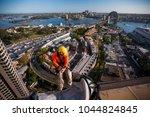 rope access worker wearing... | Shutterstock . vector #1044824845