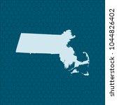 map of massachusetts | Shutterstock .eps vector #1044826402