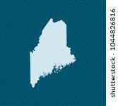 map of maine | Shutterstock .eps vector #1044826816