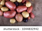 different color potatoes on... | Shutterstock . vector #1044832942