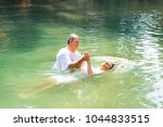 tiberiades  jordan river ... | Shutterstock . vector #1044833515