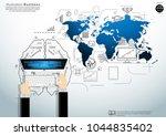 businessman hand and computer  ... | Shutterstock .eps vector #1044835402