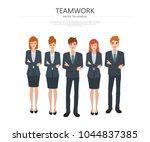 business people in group... | Shutterstock .eps vector #1044837385