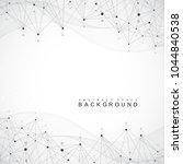 global network connection.... | Shutterstock .eps vector #1044840538