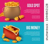 gold spot and big money posters.... | Shutterstock .eps vector #1044842128
