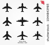 airplane icons vector   Shutterstock .eps vector #1044843985