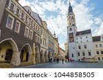 old market square in gorlitz ... | Shutterstock . vector #1044858505