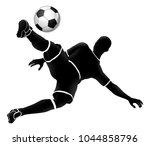 a soccer football player...   Shutterstock .eps vector #1044858796