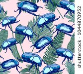 seamless pattern with blue... | Shutterstock .eps vector #1044870952