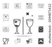 dirty and clean glass icon.... | Shutterstock .eps vector #1044871612