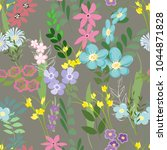 abstract flower seamless... | Shutterstock .eps vector #1044871828