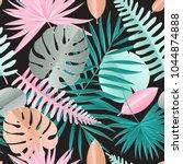 paper palm  monstera leaves... | Shutterstock .eps vector #1044874888