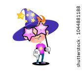 vector illustration. magic boy... | Shutterstock .eps vector #1044881188