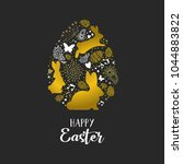 happy easter holiday greeting... | Shutterstock .eps vector #1044883822