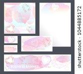 corporate identity templates...   Shutterstock .eps vector #1044885172