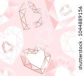 seamless pattern. pink  white...   Shutterstock . vector #1044889156