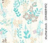 abstract flower seamless... | Shutterstock .eps vector #1044889492