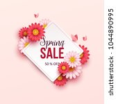 spring sale background with... | Shutterstock .eps vector #1044890995