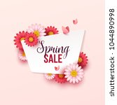 spring sale background with... | Shutterstock .eps vector #1044890998