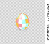 colorful easter egg isolated on ... | Shutterstock .eps vector #1044892525