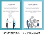 agreement and interaction set... | Shutterstock .eps vector #1044893605
