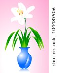 flowers in a vase of blooming. | Shutterstock .eps vector #104489906