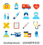 medical icons collection in... | Shutterstock .eps vector #1044899335