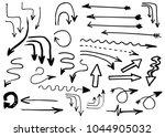 hand drawn vector arrows ... | Shutterstock .eps vector #1044905032