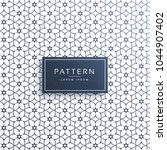 stylish flower line pattern... | Shutterstock .eps vector #1044907402