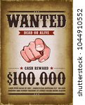 vintage wanted western poster ... | Shutterstock .eps vector #1044910552