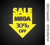 mega sale 30  off arrow banner... | Shutterstock . vector #1044911182
