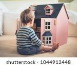 a cute gender confident little... | Shutterstock . vector #1044912448